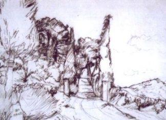 Карандашом наношу композиционный рисунок