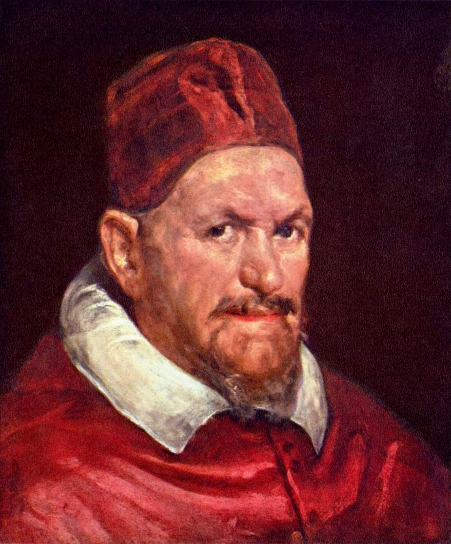 портрет папы римского Иннокентия X работы Веласкеса