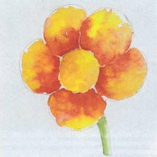 цветок карандашом