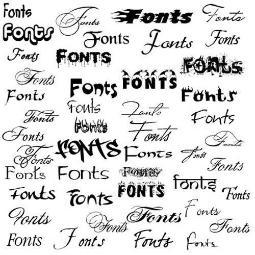 Шрифты текстура, ротунда, швабахер, фактура