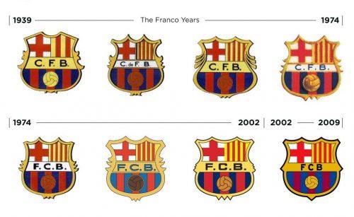 "Изменения логотипа ""Барселоны"""